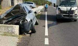 Accident rutier, la Negreni