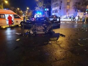 Slatina: accident grav în centrul orașului