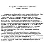 Primăria Gârcov: anunț public privind decizia etapei de încadrare