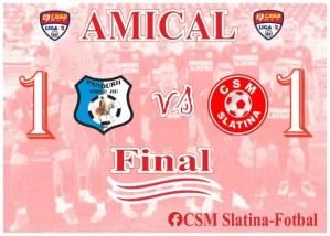 Fotbal: Pandurii Târgu Jiu - CSM Slatina 1-1