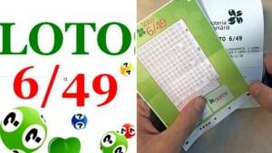 Numerele câştigătoare la Loto 6/49 şi premiile oferite de Loteria Română