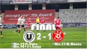 Fotbal: Universitatea Cluj – CSM Slatina 2-1