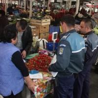 Piețele controlate de polițiști