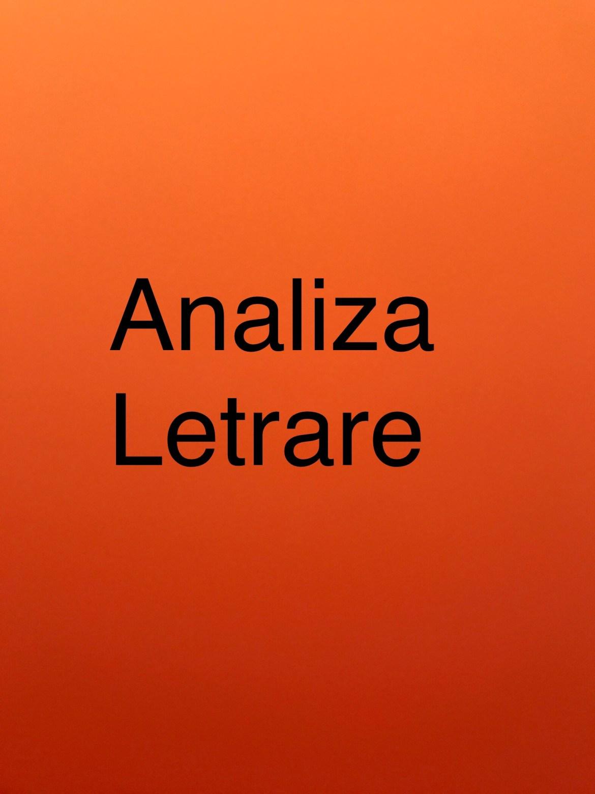 Analiza letrare, Analizë , Analiza të veprave letrare