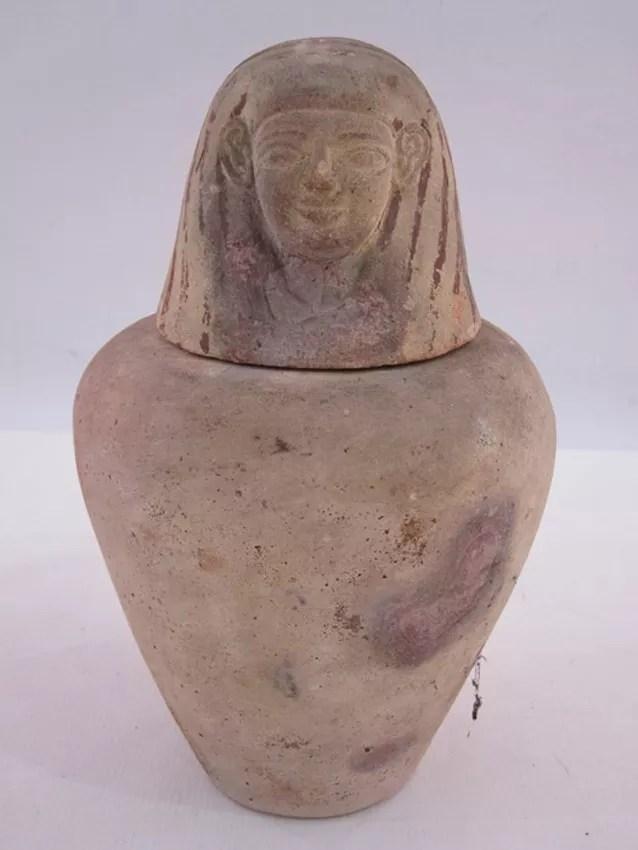 Tarro canopic egipcio