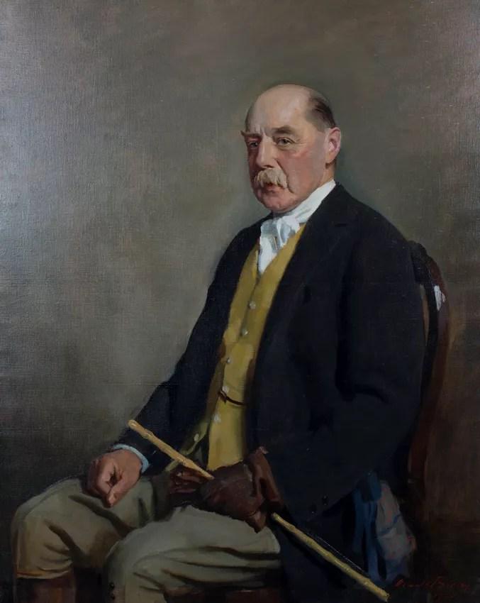 Oswald Birley retrato de Sir Gordon Cunard