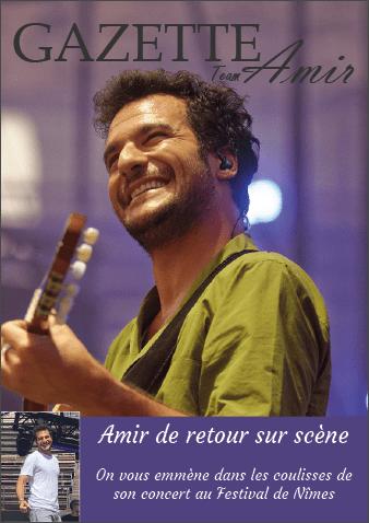 Amir le retour sur scène, Festival de Nîmes
