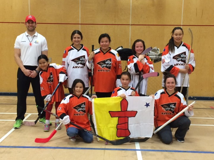 Ryan O'Connor and his team celebrated Hockey Canada World Girls Hockey Day this past October in Arviat, Nunavut, with a game of ball hockey.