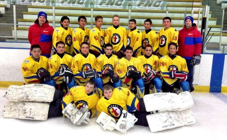 Team Nunavut at the 2014 Arctic Winter Games in Fairbanks, Alaska.