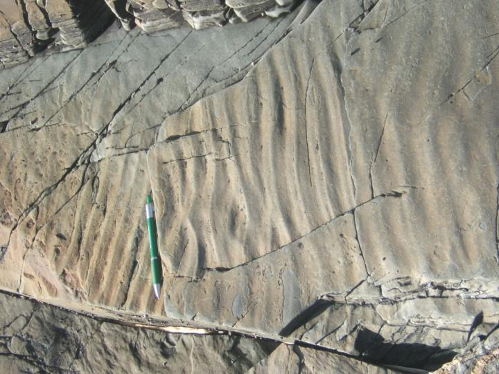 Geologic formations on Fogo Island.