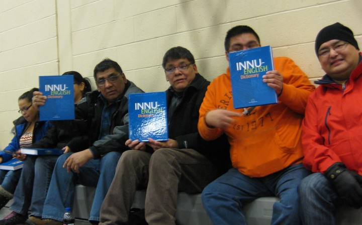 Innu men with dictionaries (1)