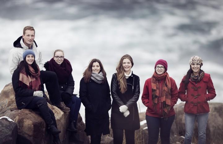 From left: Anna Sparrow, Daniel Rees, Megan Webb, Dr. Meghan Burchell, Emma Culligan, Margaret Way and Natasha Leclerc.