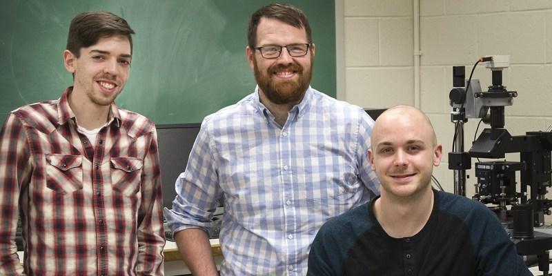 Spectroleum Labs team members Lucas Stewart, Liam Whelan and Josh Walsh