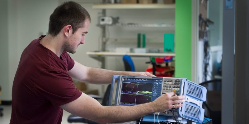 Engineering alumnus Paul Arsenault, an employee with Mount Pearl-based Solace Power. Solace is a graduate of the Genesis Centre and the creator of innovative new wireless technology.