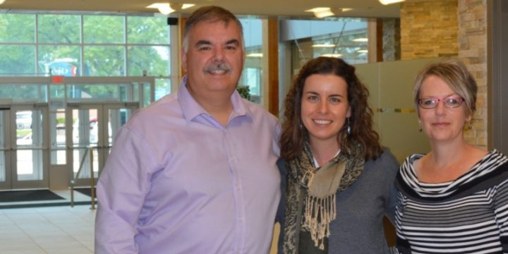 Dr. Dr. Roza Tchoukaleyska, centre, is collaborating with Corner Brook's mayor Charles Pender and Colleen Kennedy from the city's planning department in offering Grenfell's first CityStudio course.