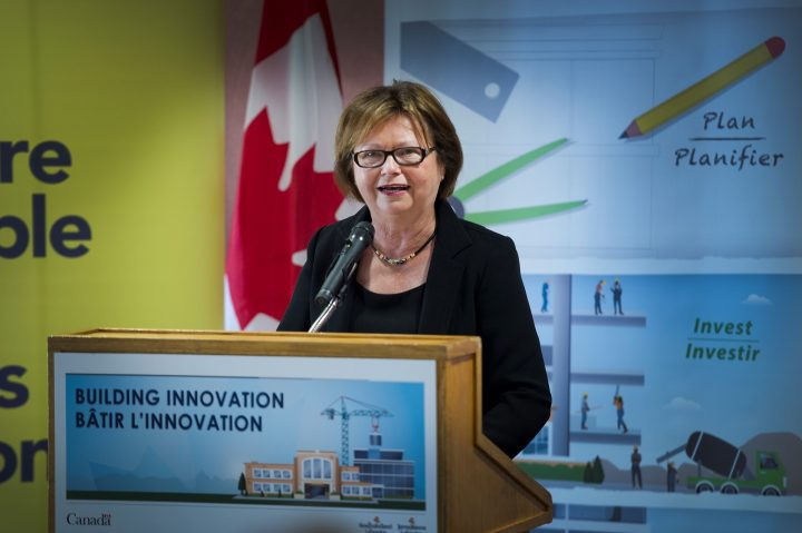 Minister Judy Foote during the Sept. 6 funding announcement on the St. John's campus.