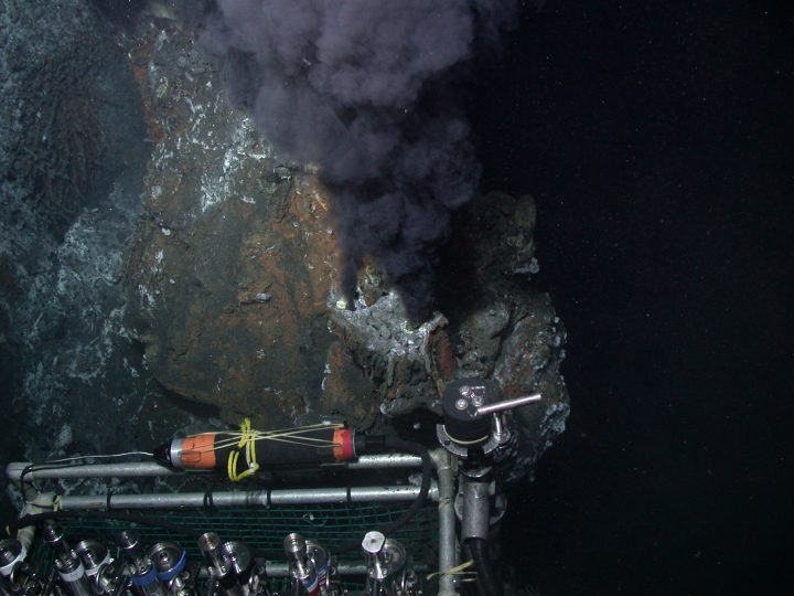 Black smoker hydrothermal vents in the Endeavour Marine Protected Area.