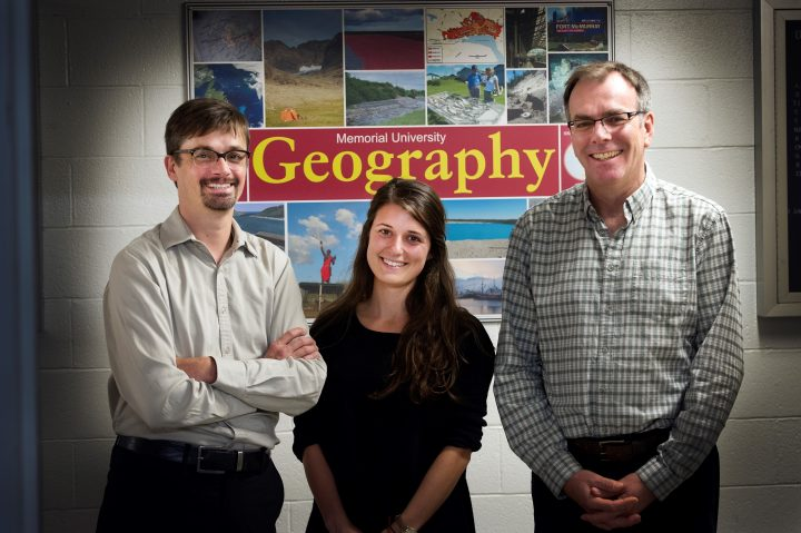 From left, Dr. Arn Keeling, Amanda Degray and Dr. Trevor Bell.