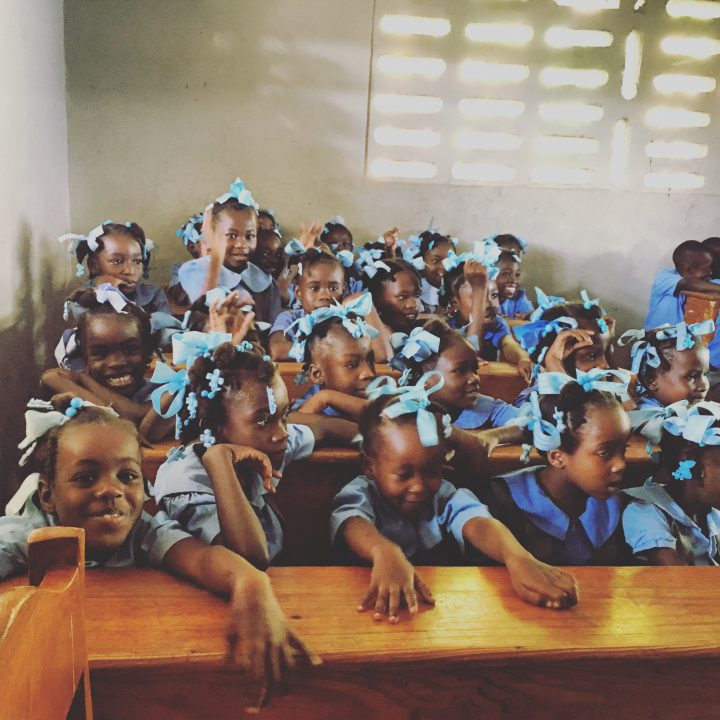 Just some of the children Dr. Balsom's team met with during the clinics in Haiti.