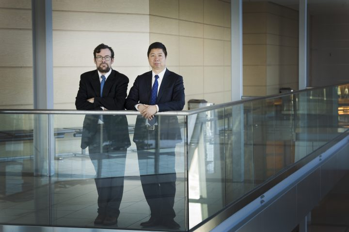 From left, Drs. David Brake and Tony Fang