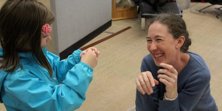 Dr. Erika Merschrod during a previous Science Rendezvous event.