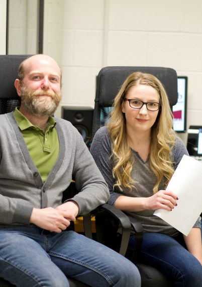 From left are Dr. Ben Zendel and Bethany Power.