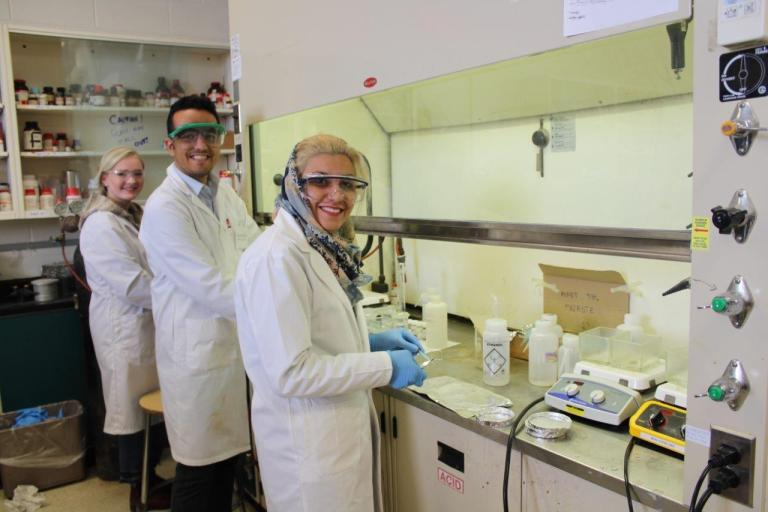 Dr. Stefana Egli and her fellow researchers in the lab