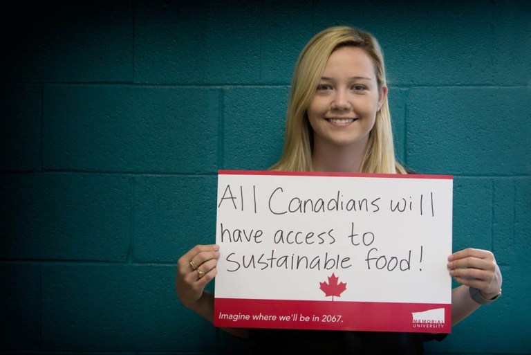 "Taylor Young says ""All Canadian's will have access to sustainable food"