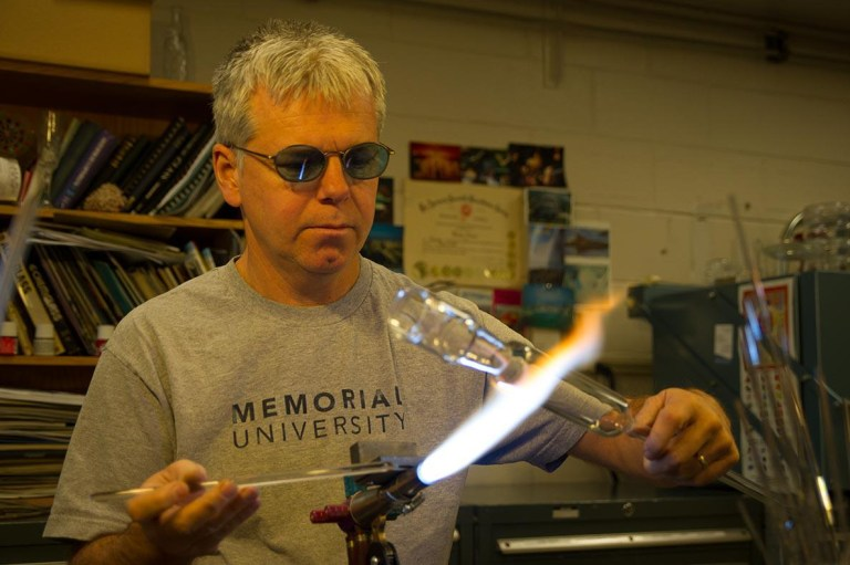 Brian Power had been a technical glass blower at Memorial for 26 years