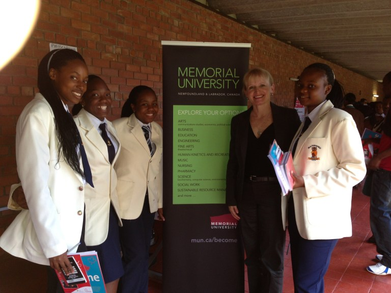Shona Perry-Maidment on a recruitment visit to Zimbabwe in 2014.