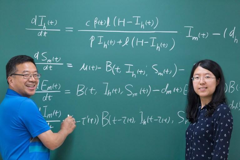 From left are Drs. Xiaoqiang Zhao and Xiunan Wang.