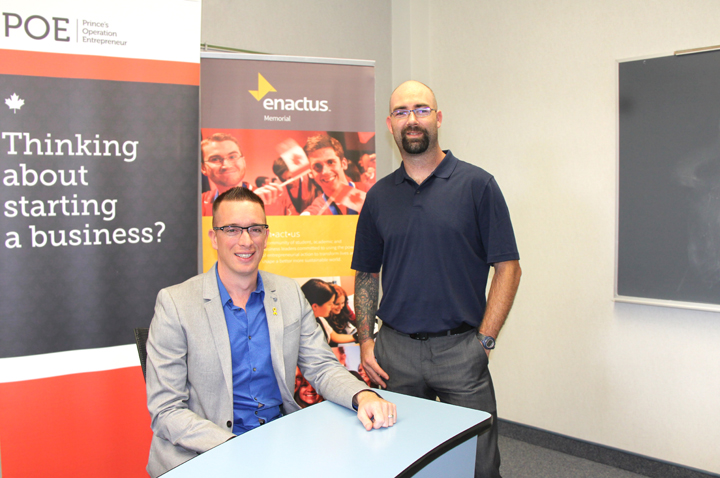 Jason Coady, left, and Ben Brake were participants in Prince's Operation Entrepreneur recently at the Gardiner Centre.