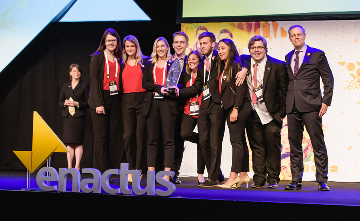 Enactus Memorial has won the 1 Race 2 End Waste competition at the Enactus World Cup in London, U.K.