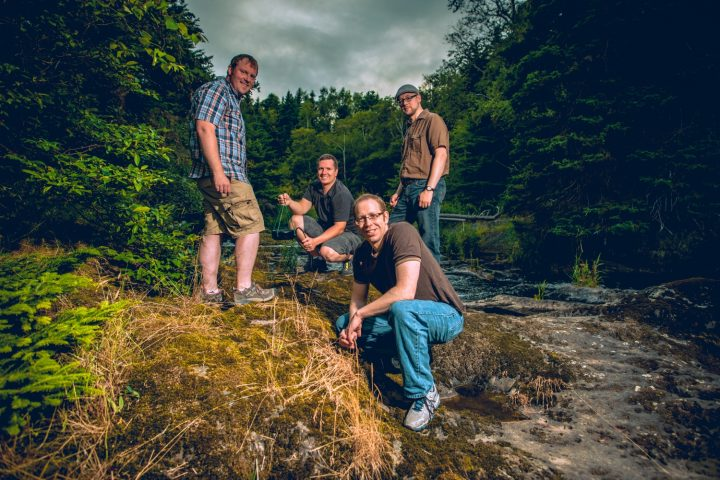 From left are Seaformatics co-founders Andrew Cook, Adam Press, Robert Boyd and Geoff Holden.