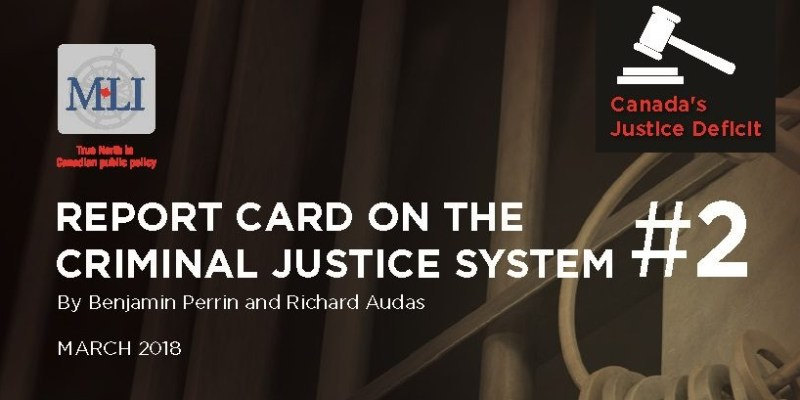 Portion of the cover of a book on Canadas justice system