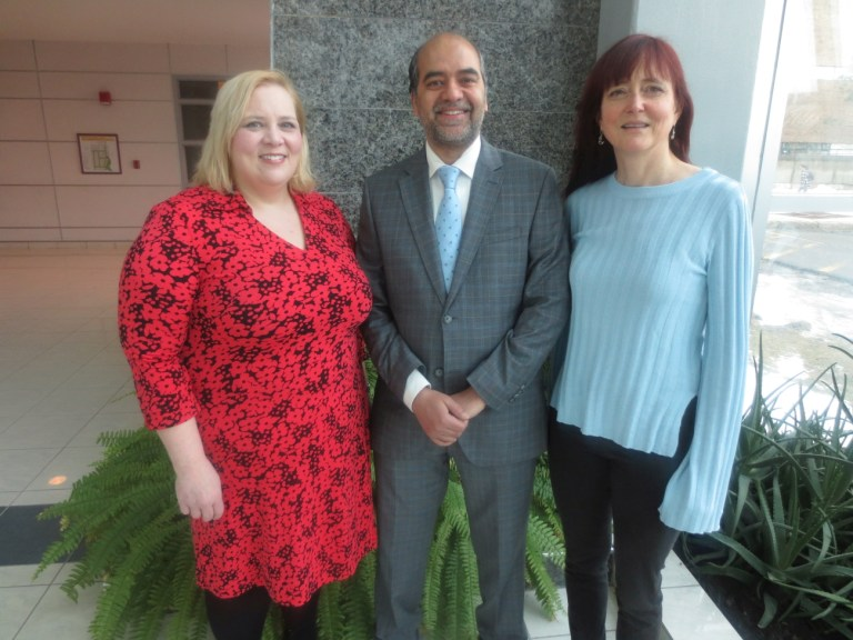 From left Dr. Christina Bottaro; Dr. Faisal Khan; and Dr. Kelly Hawboldt.