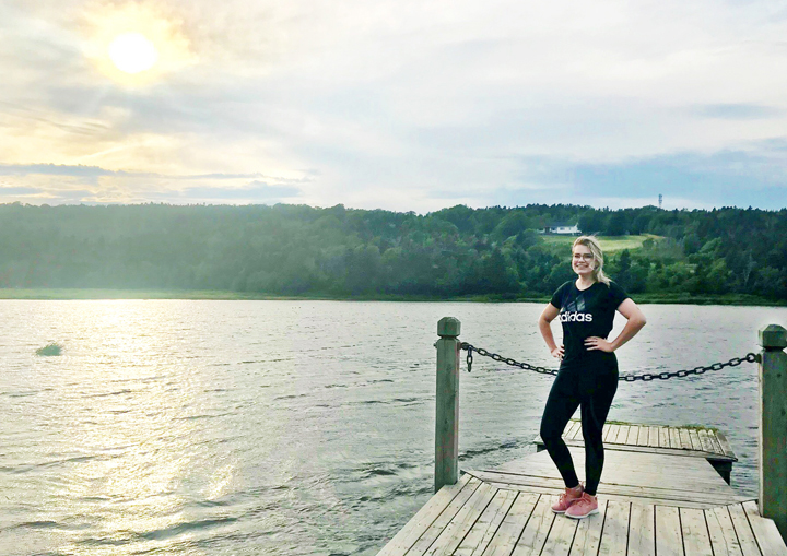 Nicole Noseworthy enjoys being active at Long Pond near Memorial's campus in St. John's.