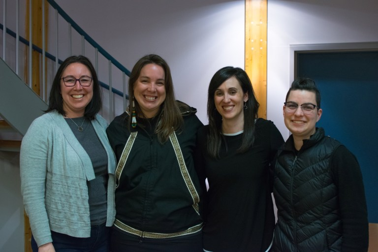 From left Cathryn Andersen, Dr. Eve Tuck, Dr. Ashlee Cunsolo and Dr. Max Liboiron.