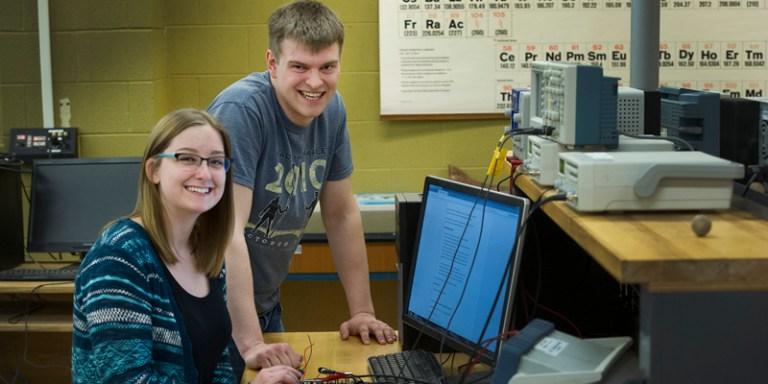 Students in the Mechatronics Laboratory.