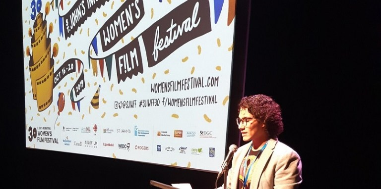 Santiago Guzman at the 2019 St. John's International Women's Film Festival.