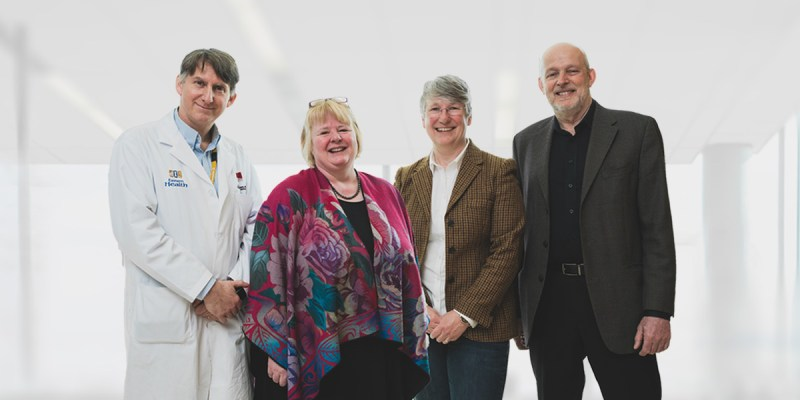From left are Drs. Sean Connors, Kathy Hodgkinson, Terry-Lynn Young and Daryl Pullman from Memorial University of Newfoundland's Faculty of Medicine.