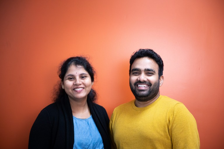 Nikitha Kendyala, left, and Purvikalyan Pallegar, co-founders of Nucliq Biologics Inc.