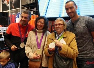 Les clients de sport zone ont pu avoir les medailles de J. Stravius autour du cou