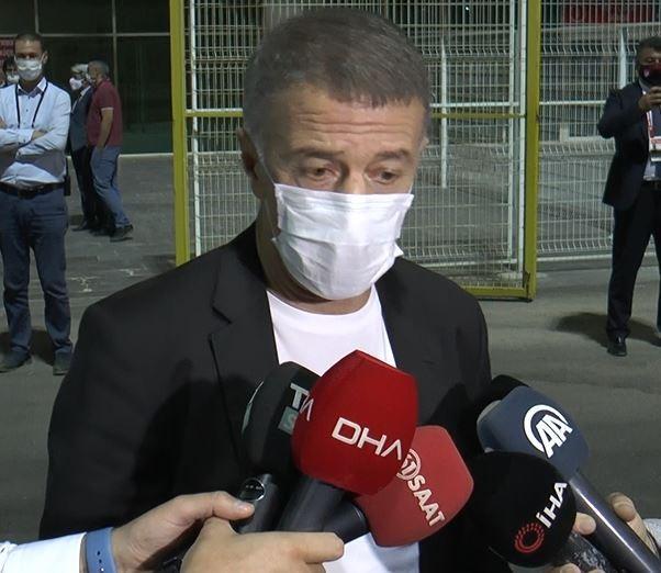Trabzonspor Başkanı Ağaoğlu'ndan maç sonu açıklamalar