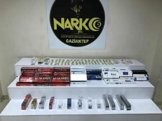 Gaziantep'te 63 şüpheli şahsa uyuşturucudan işlem