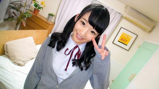 【JK】カフェのチラシを配る女子高生の可愛い顔に顔射でフィニッシュ【画像】