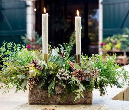 Panier Cadeau Fleuriste Noël
