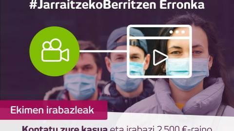 #JarraitzekoBerritzen  erronkaren  irabazleak:  Katiuska,  Zirkugintza,  Pradogs  eta  Kopas