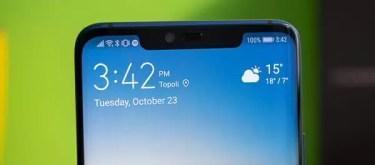 Huawei Mate30 Proはやり大型ノッチを搭載に。Mate30シリーズの中で唯一異なるデザインに。