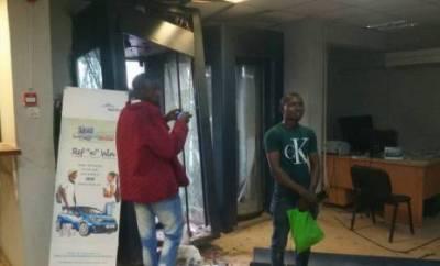 Robers invade banks at iwo